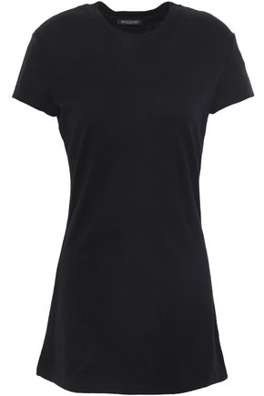 BALMAIN Cotton and cashmere-blend jersey T-shirt