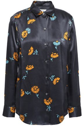 EQUIPMENT Essential floral-print silk-satin shirt