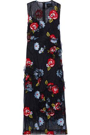 SIMONE ROCHA Embroidered tulle midi dress