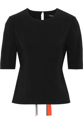 CUSHNIE Tie-back stretch-crepe top