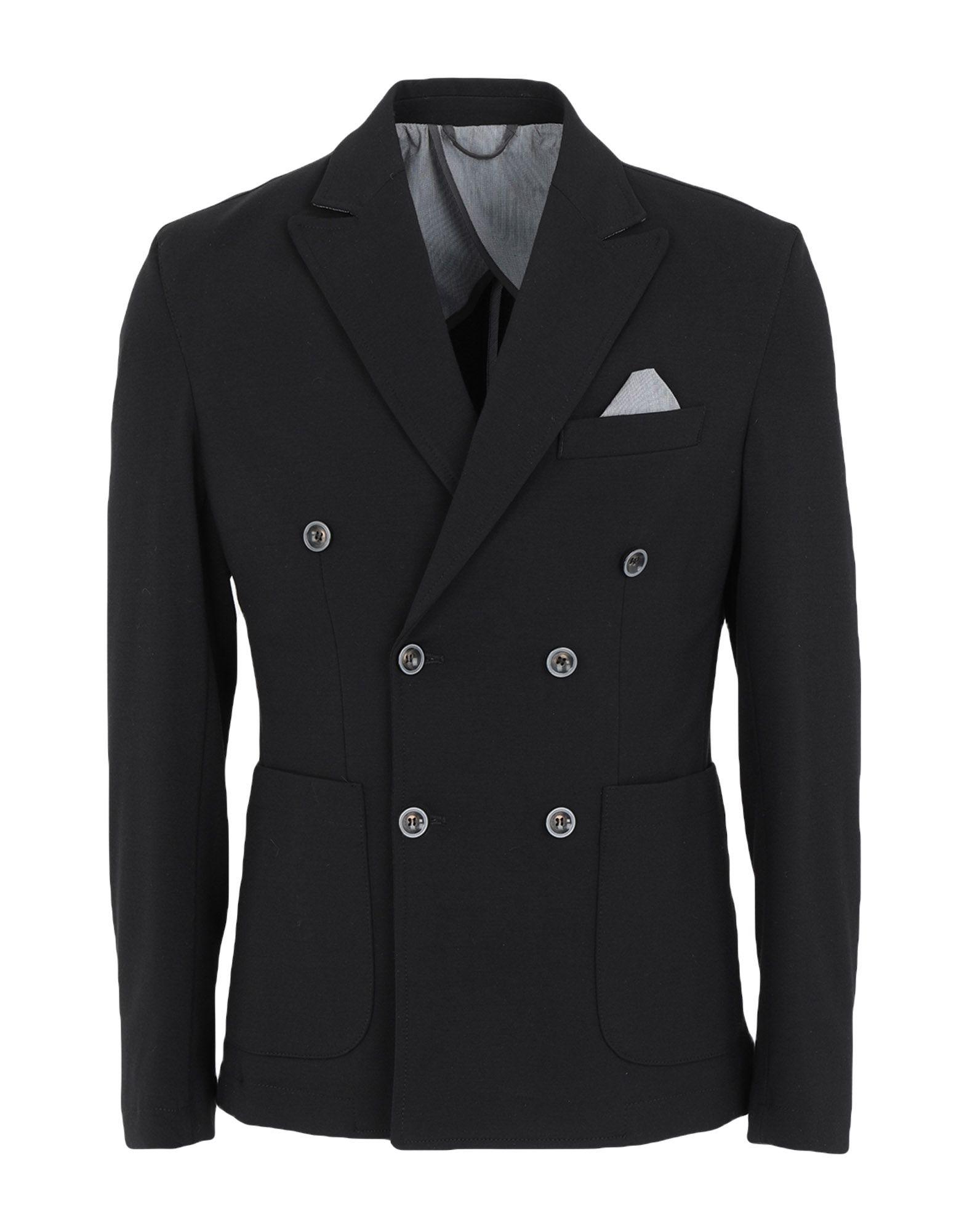 《セール開催中》DANIELE KALAMARI New York メンズ テーラードジャケット ブラック 46 コットン 68% / ナイロン 27% / ポリウレタン 5%