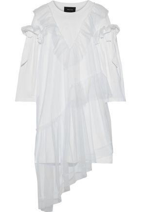 SIMONE ROCHA Ruffled layered tulle and cotton-jersey mini dress