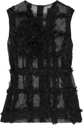 SIMONE ROCHA Tinsel-trimmed tulle top