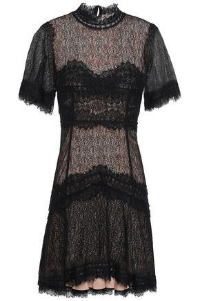 JONATHAN SIMKHAI Scalloped corded lace mini dress