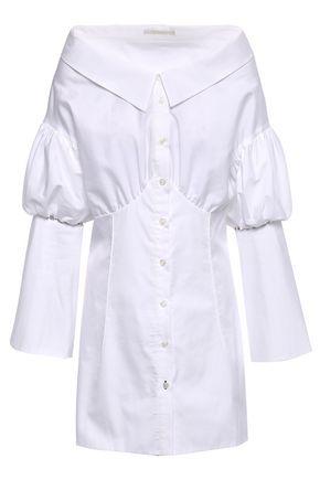 JONATHAN SIMKHAI Studded cotton-poplin shirt