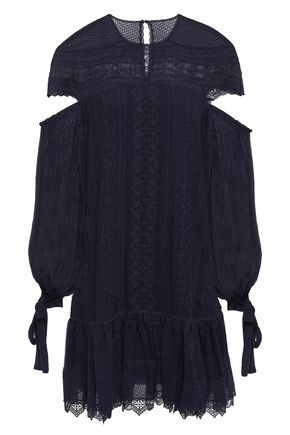 JONATHAN SIMKHAI Cutout embroidered silk-chiffon mini dress