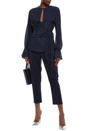JONATHAN SIMKHAI Metallic fil coupé georgette blouse