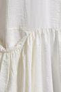 JIL SANDER Gathered crinkled silk-blend midi shirt dress