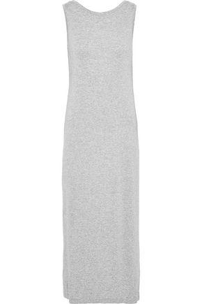 NORMA KAMALI Open-back mélange stretch-jersey midi dress