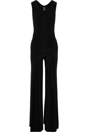 NORMA KAMALI Racer Side Tie stretch-jersey wide-leg jumpsuit