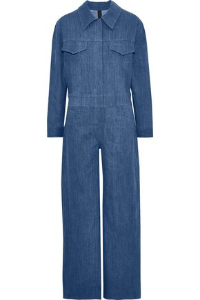NORMA KAMALI Denim wide-leg jumpsuit
