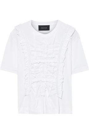 SIMONE ROCHA Ruched cotton-jersey T-shirt