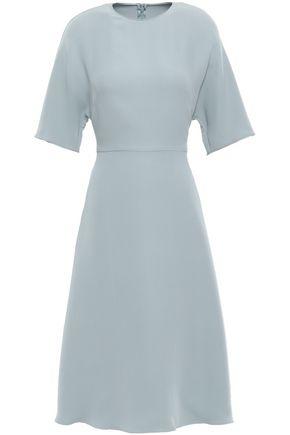VALENTINO Flared silk-crepe dress