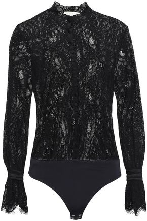 JONATHAN SIMKHAI Corded lace bodysuit