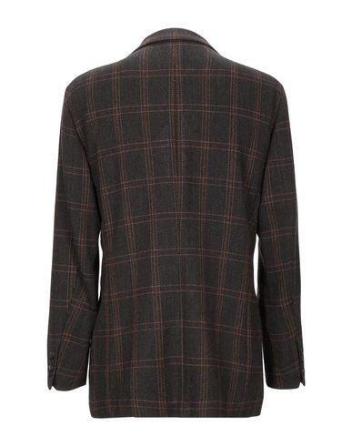 Фото 2 - Мужской пиджак  темно-коричневого цвета