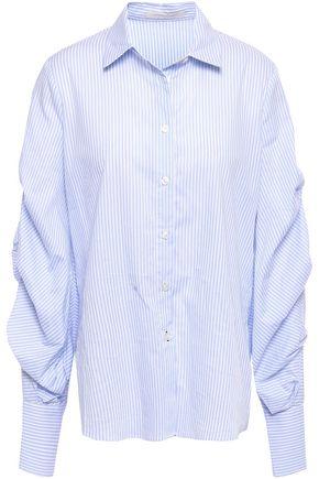 JONATHAN SIMKHAI Striped cotton-poplin shirt