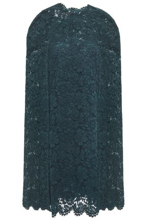 VALENTINO Cape-effect corded lace dress