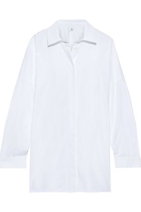 IRIS & INK Karrie cotton-blend poplin shirt