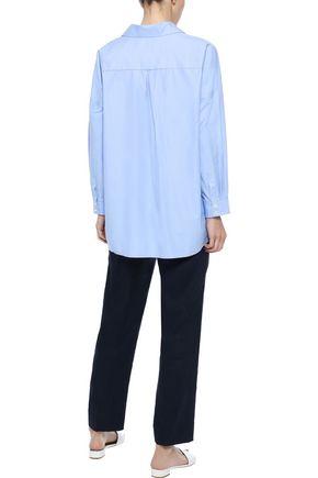 IRIS & INK Karrie cotton-blend poplin shirt