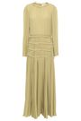 VALENTINO Tiered silk-crepe midi dress