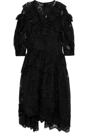 SIMONE ROCHA Ruffled lace midi dress