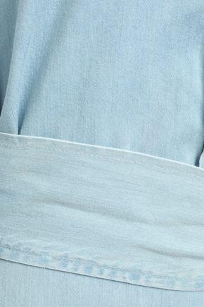 ACNE STUDIOS Belted cotton-chambray mini shirt dress