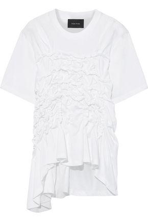 SIMONE ROCHA Easy asymmetric ruched cotton-jersey T-shirt
