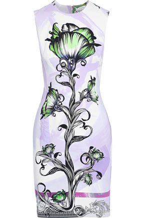 VERSACE COLLECTION Floral-print cady mini dress
