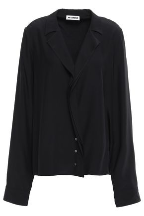 JIL SANDER Draped silk shirt