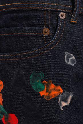 ACNE STUDIOS Swamp painted denim shorts