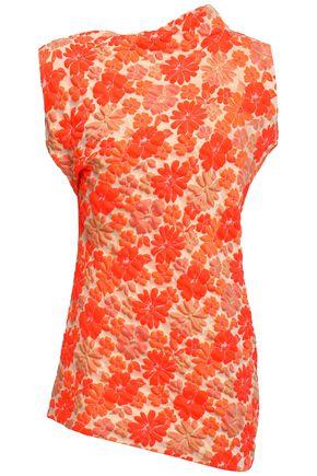 JIL SANDER Asymmetric floral-jacquard top
