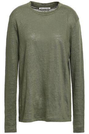 ACNE STUDIOS Mélange slub linen-jersey top