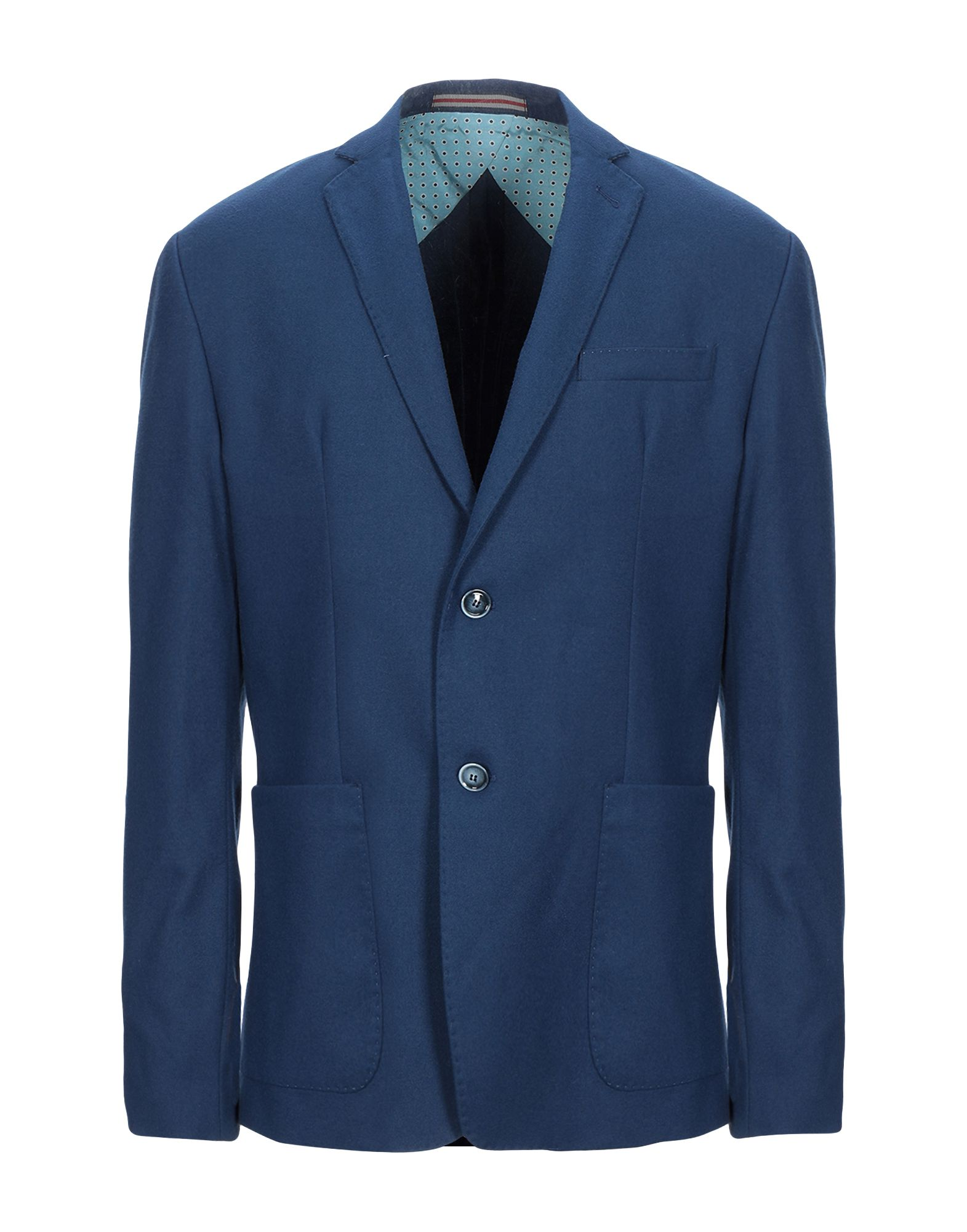 《セール開催中》HAVANA & CO. メンズ テーラードジャケット ブルー 54 ポリエステル 64% / レーヨン 34% / ポリウレタン 2%
