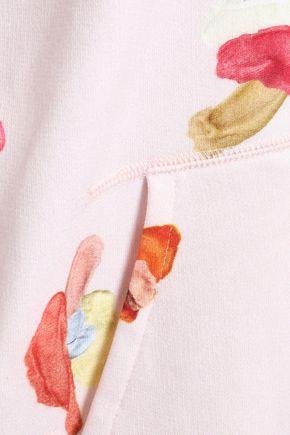 ACNE STUDIOS Printed cotton-fleece hoodie