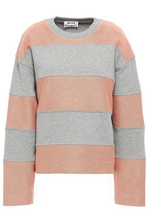 ACNE STUDIOS Striped French cotton-terry sweatshirt