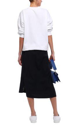 ACNE STUDIOS Snappy coated printed cotton-blend fleece sweatshirt