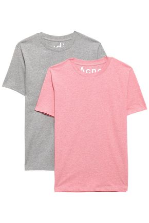 ACNE STUDIOS Set of two mélange cotton-jersey T-shirts