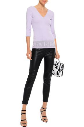 VERSACE COLLECTION Pointelle-knit top