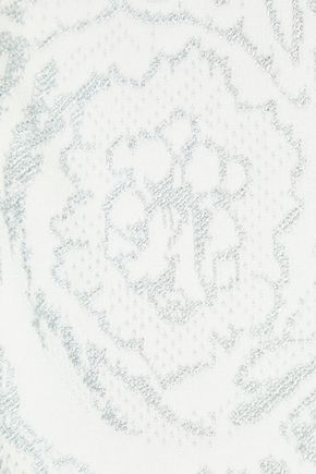 VERSACE COLLECTION Metallic jacquard-knit top