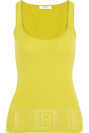 VERSACE COLLECTION Pointelle-knit tank