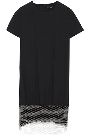 VERSUS VERSACE Chainmail-embellished crepe mini dress