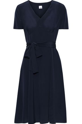 IRIS & INK Siv belted washed-silk dress