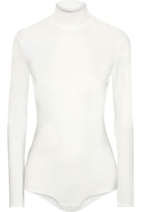 IRIS & INK Kaari stretch-jersey turtleneck bodysuit