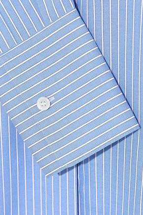 IRIS & INK Louiza striped cotton Oxford shirt