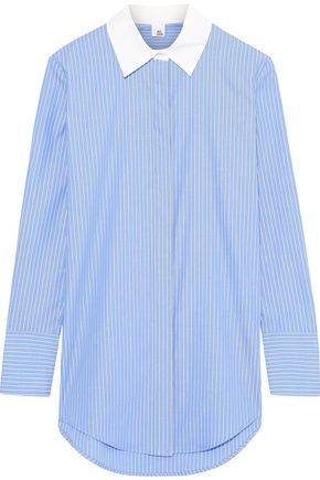 IRIS & INK Striped cotton Oxford shirt