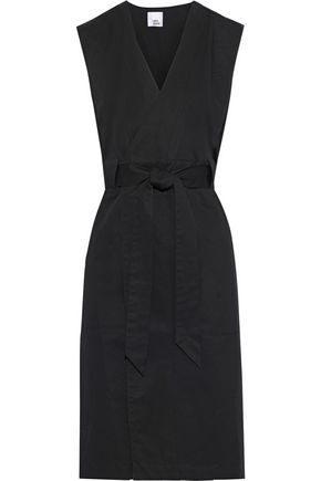 IRIS & INK Freja cotton-twill wrap dress
