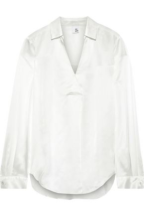 IRIS & INK Lova silk-satin blouse