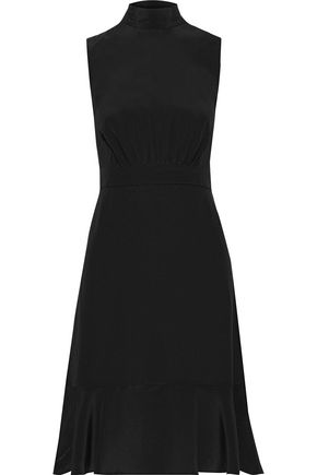 IRIS & INK Dagmar bow-detailed silk-crepe dress