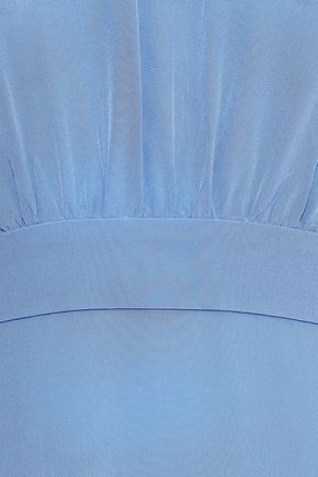 IRIS & INK Dagmar bow-detailed silk-crepe dress