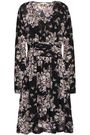 byTIMO Pleated floral-print fil coupé georgette dress